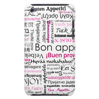 Pink Bon appetit in many languages iPod Case-Mate Case
