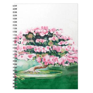 Pink Bonsai Spiral Notebook
