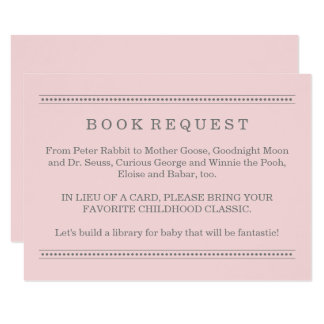 Exceptional Pink Book Request   Baby Shower Enclosure Card