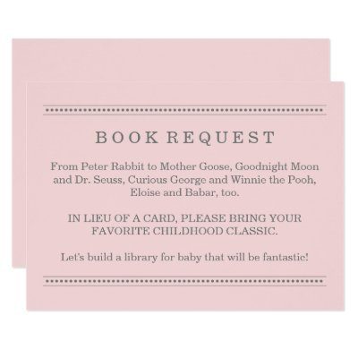Captivating Coral U0026 Burlap Dots Baby Shower Book Request Card | Zazzle