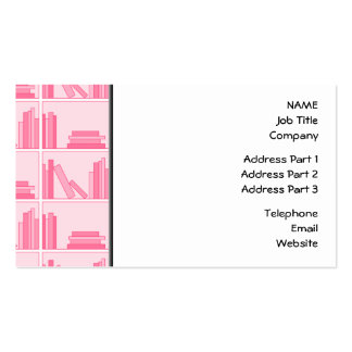 Pink Books on Shelf. Double-Sided Standard Business Cards (Pack Of 100)