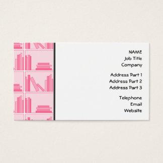 Pink Books on Shelf. Business Card