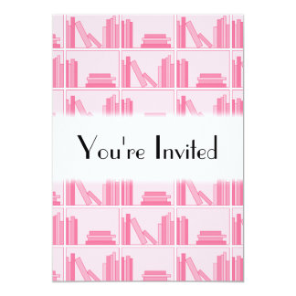 Pink Books on Shelf. Card