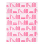 Pink Books on Shelf. Flyer