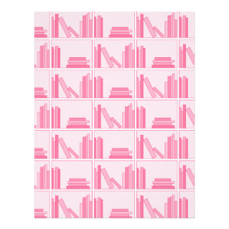Pink Books on Shelf Flyer