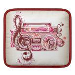Pink Boom Box with Hearts iPad Sleeves