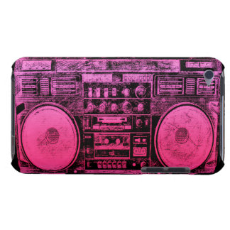 pink boombox barely there iPod cover