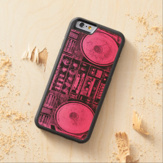 pink boombox carved® maple iPhone 6 bumper