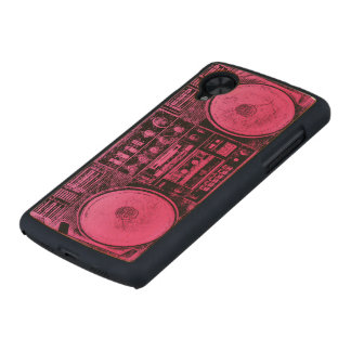 pink boombox carved® maple nexus 5 case