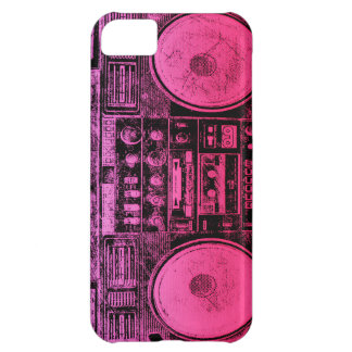 Pink boombox case for iPhone 5C