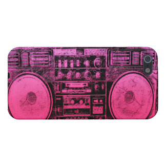 Pink boombox case for iPhone SE/5/5s