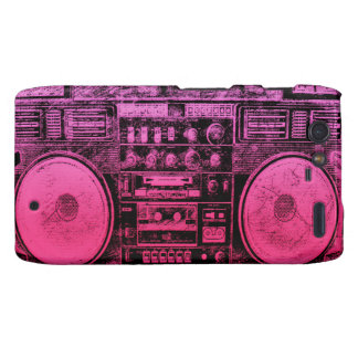 Pink boombox droid RAZR covers
