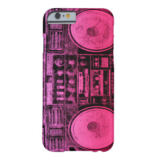 Pink boombox iPhone 6 case