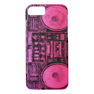 Pink boombox iPhone 8/7 case