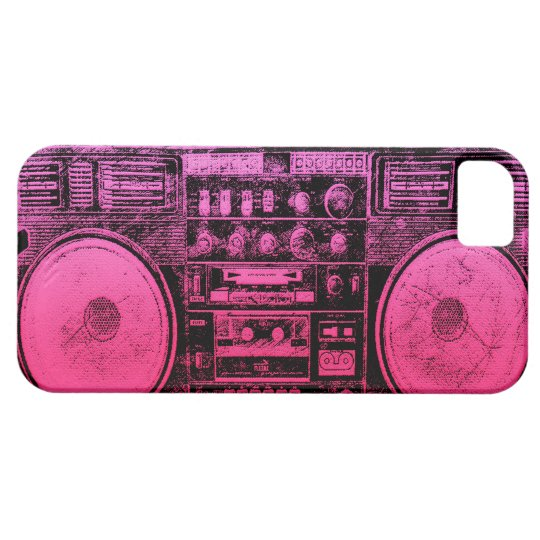 Pink boombox iPhone SE/5/5s case