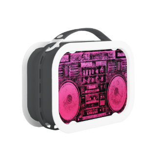 pink boombox lunch box