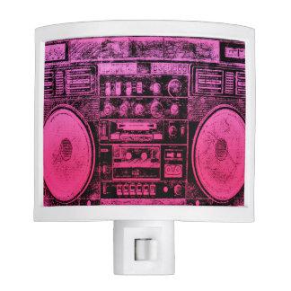 pink boombox night lights