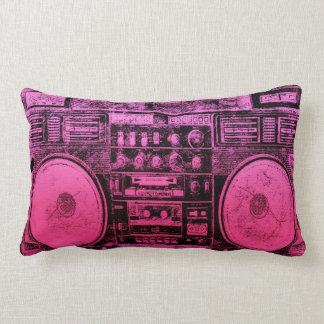 pink boombox pillow