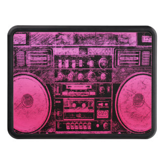 pink boombox hitch cover