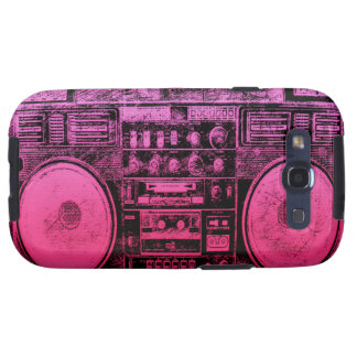 pink boombox samsung galaxy s3 cases