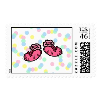 Pink Booties stamp