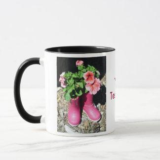 Pink Boots Flower Coffee Mug