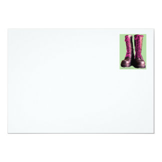 Pink Boots 5x7 Paper Invitation Card