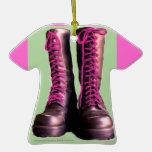 Pink Boots Ornament