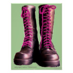 Pink Boots Print