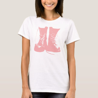 Pink Boots with Laces T-Shirt