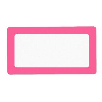 Pink border blank label