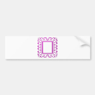 PINK Border Decoration: Add Text Image Car Bumper Sticker