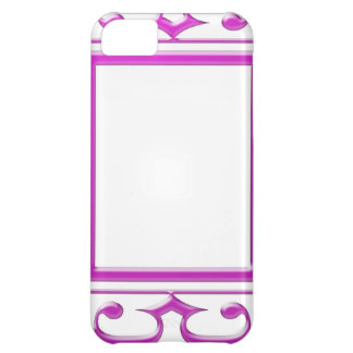 PINK Border Decoration: Add Text Image Case For iPhone 5C