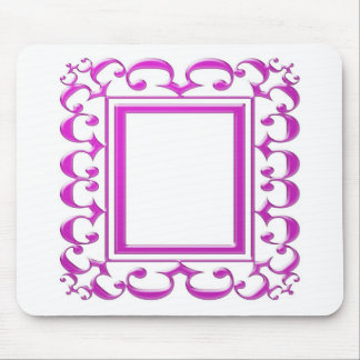 PINK Border Decoration Add Text Image Mouse Pad