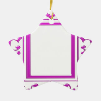 PINK Border Decoration: Add Text Image Christmas Ornaments