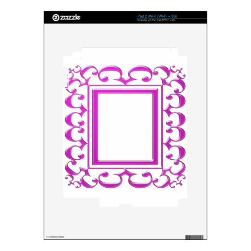 PINK Border Decoration: Add Text Image Decal For The iPad 2
