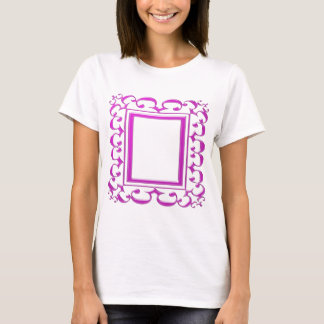 PINK Border Decoration: Add Text Image T-Shirt