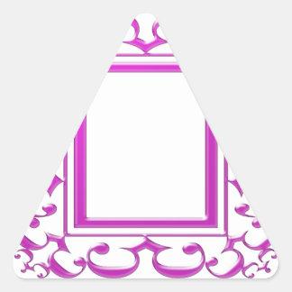 PINK Border Decoration: Add Text Image Triangle Sticker