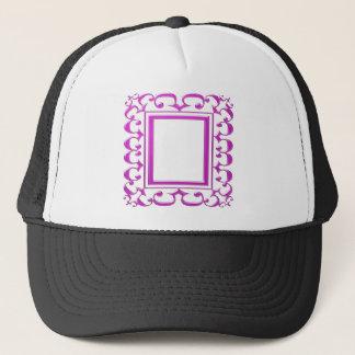 PINK Border Decoration: Add Text Image Trucker Hat