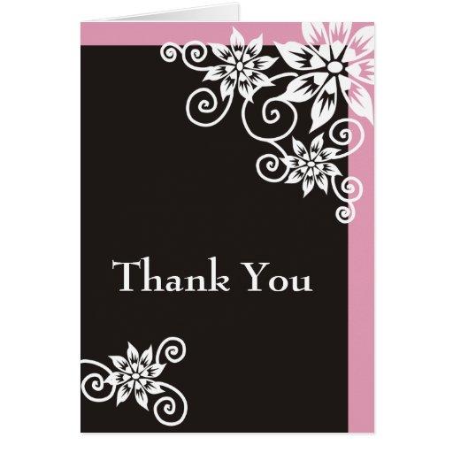 Pink Border : : Designer Thank You Cards   Zazzle