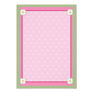 Pink Border on Handcrafted Acrylic Texture Sheet Card
