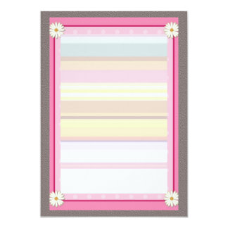 Pink Border on Handcrafted Acrylic Texture  V21 Card