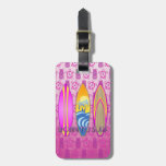 Pink Born To Surf Bag Tags