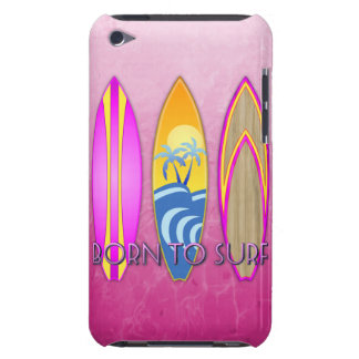 Pink Born To Surf iPod Touch Cases