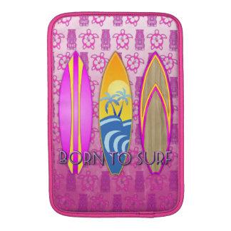 Pink Born To Surf MacBook Sleeve