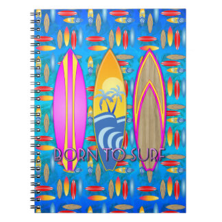 Pink Born To Surf Notebook