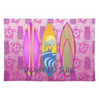 Pink Born To Surf Placemat