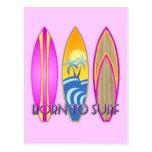 Pink Born To Surf Postcard