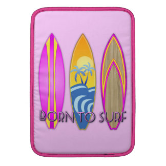 Pink Born To Surf Sleeve For MacBook Air