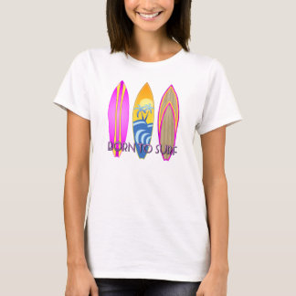Pink Born To Surf T-Shirt